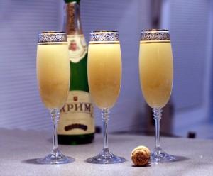рецепт коктейля с шампанским в фонтан