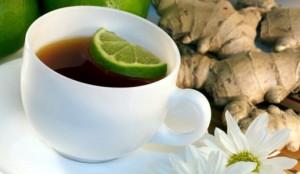чёрный чай с лаймом