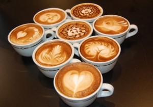 кофе капучино - латте-арт