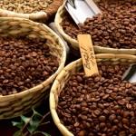 зёрна кофе в корзинах