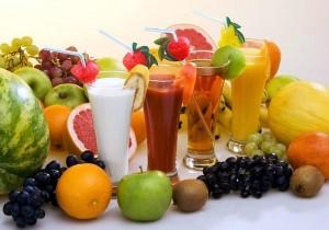 фрукты, соки, чай