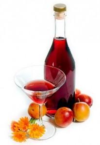 вино, фрукты, бокал