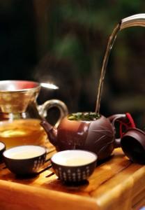 проливание чая