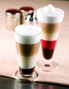 слоёный кофе
