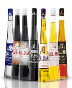 """бутылки с ликёром """"Гальяно"""""""