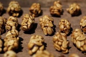 кофейные зёрна после обработки зверьками