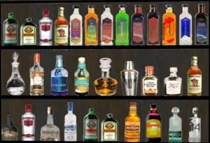 бутылки с ликёрами