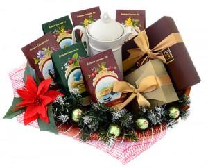 подарочная корзина с чаем