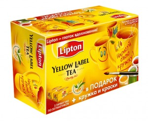 "чёрный чай ""Lipton Yellow Label"""
