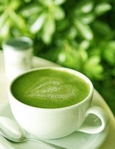 зелёный порошкообразный чай