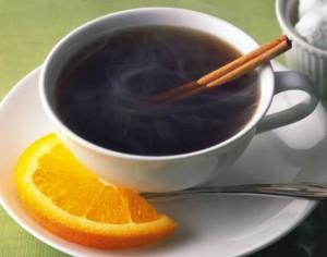 кофе с апельсинами и корицей