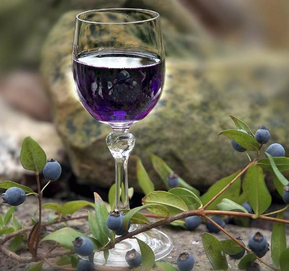 Вино и настойка из черники