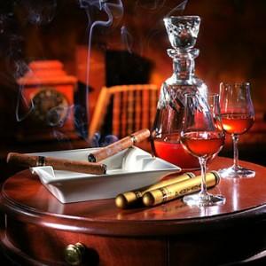 коньяк и сигары