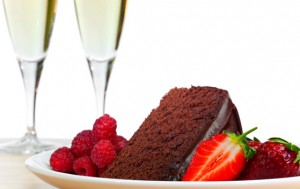 десерт и вино