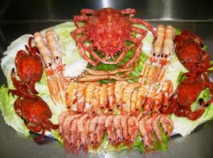 морепродукты к вину