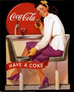 рекламный плакат с кока-колой